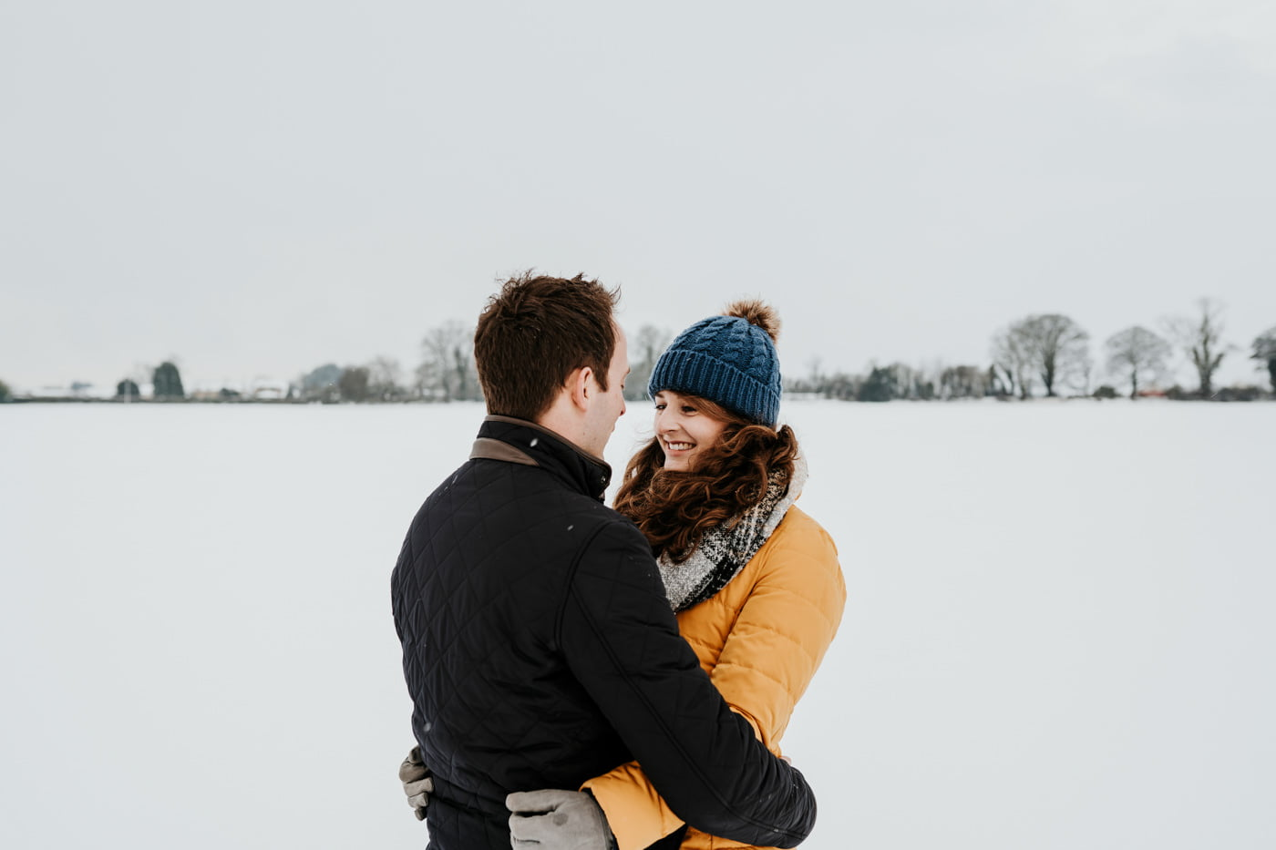 Sophie and Rob, Snow Engagement Shoot 9