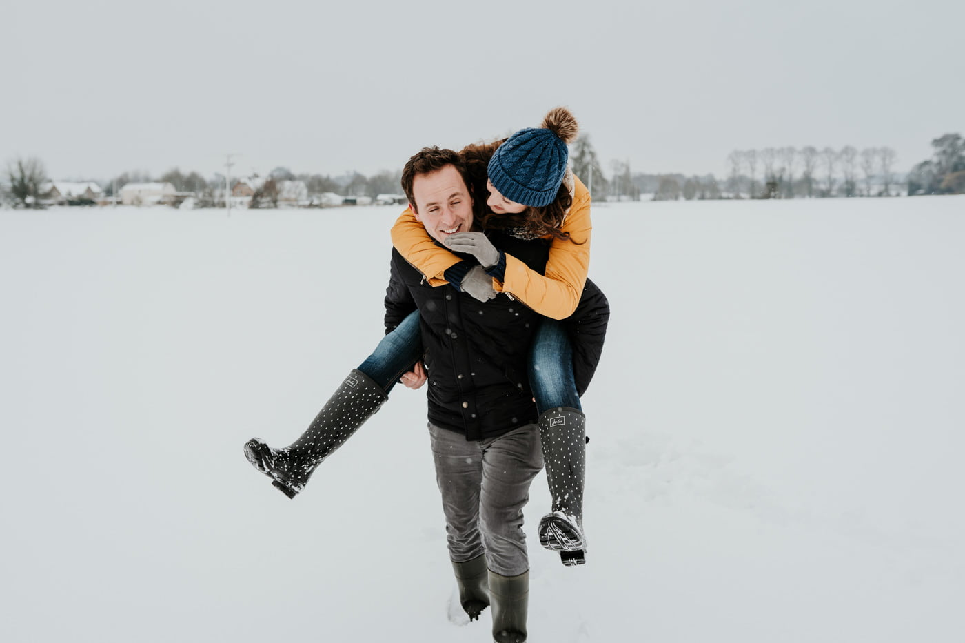 Sophie and Rob, Snow Engagement Shoot 13