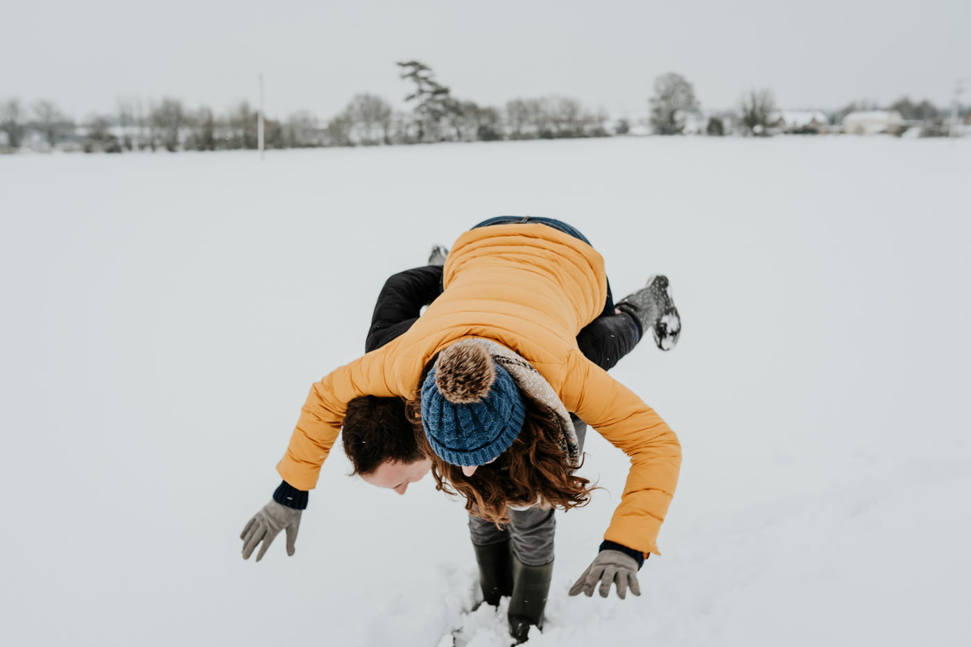 Sophie and Rob, Snow Engagement Shoot 2