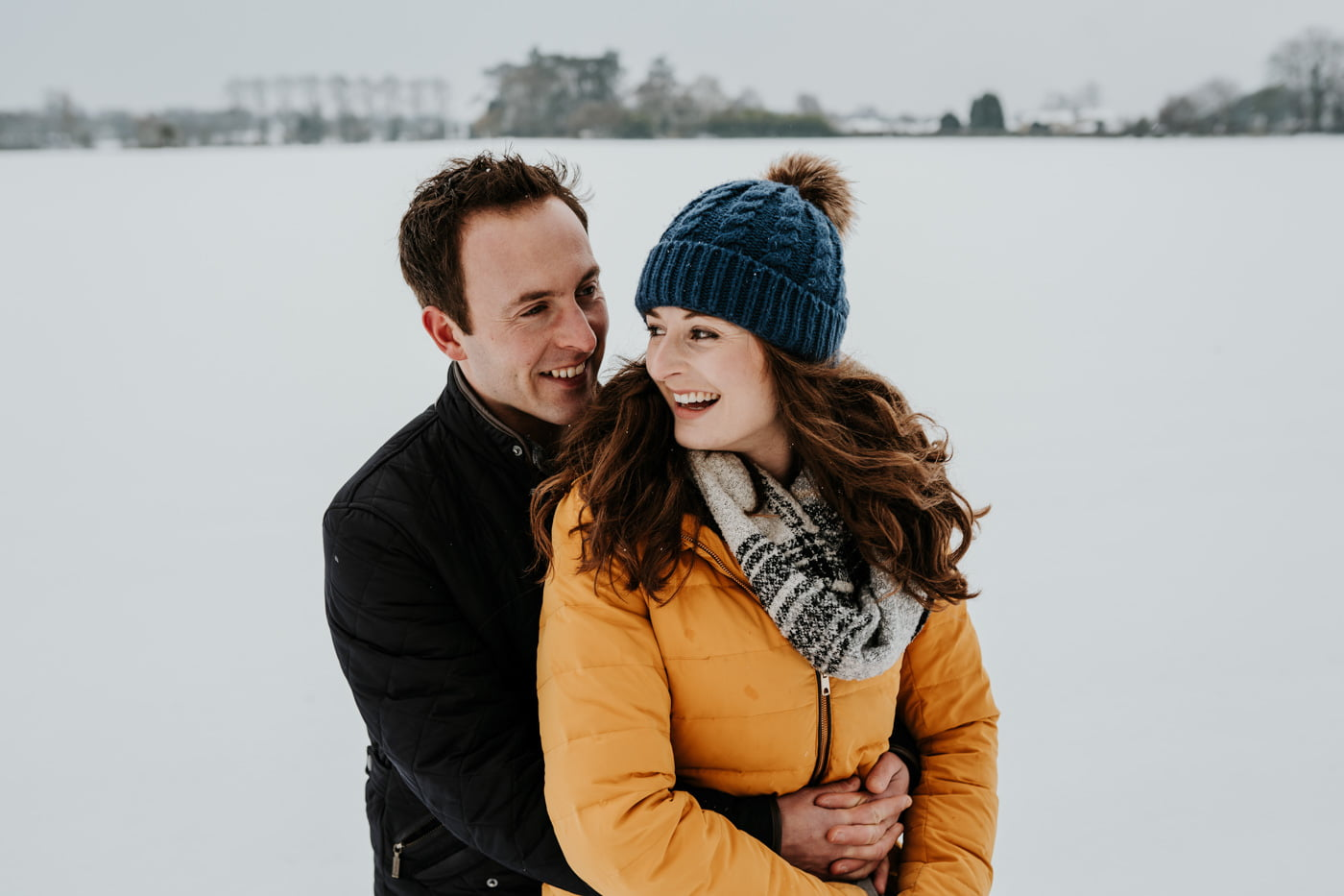 Sophie and Rob, Snow Engagement Shoot 1