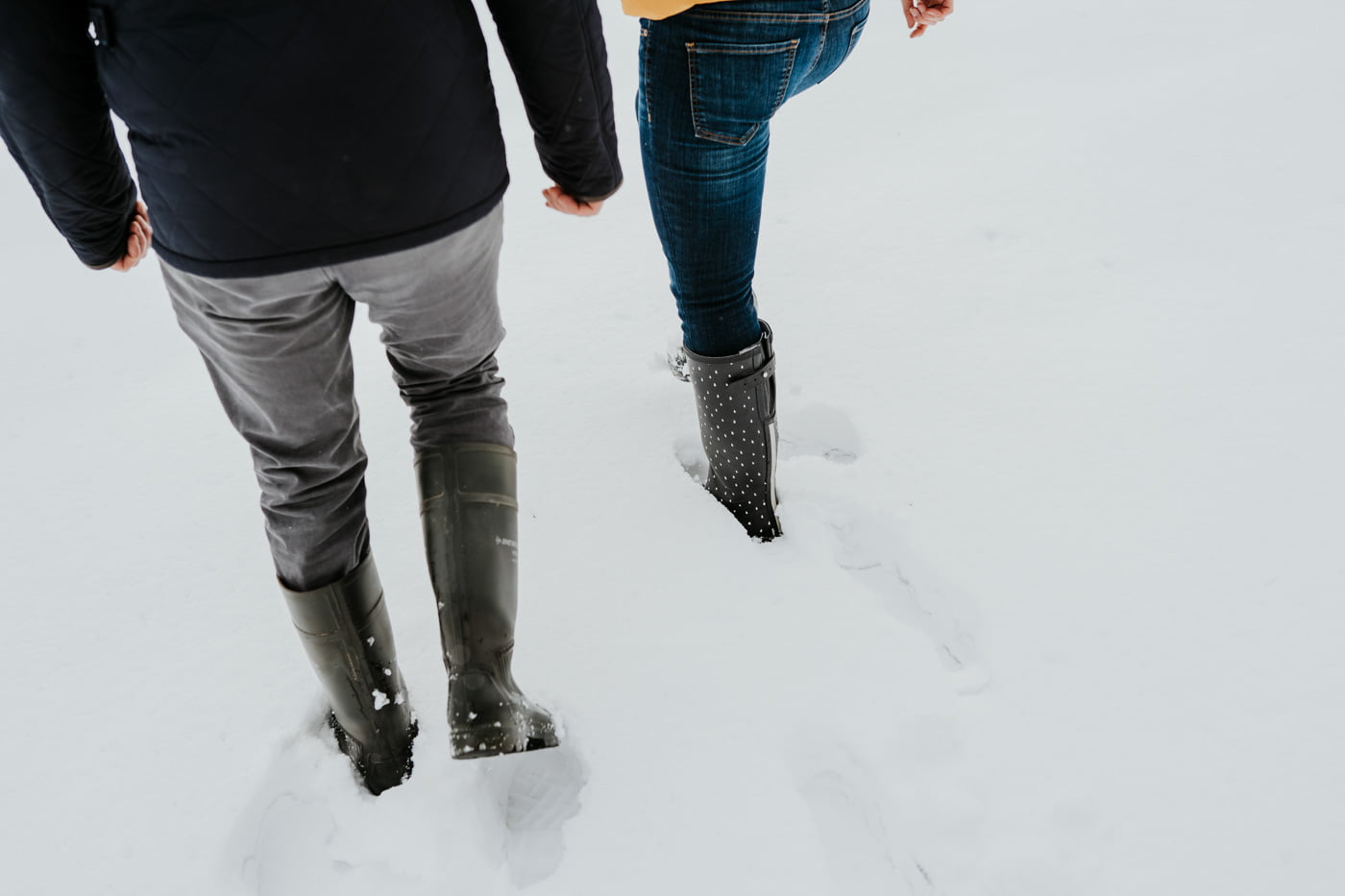 Sophie and Rob, Snow Engagement Shoot 3