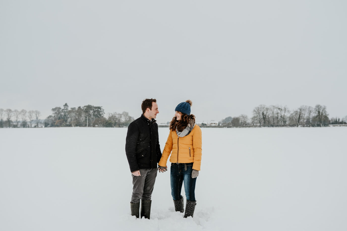 Sophie and Rob, Snow Engagement Shoot 16
