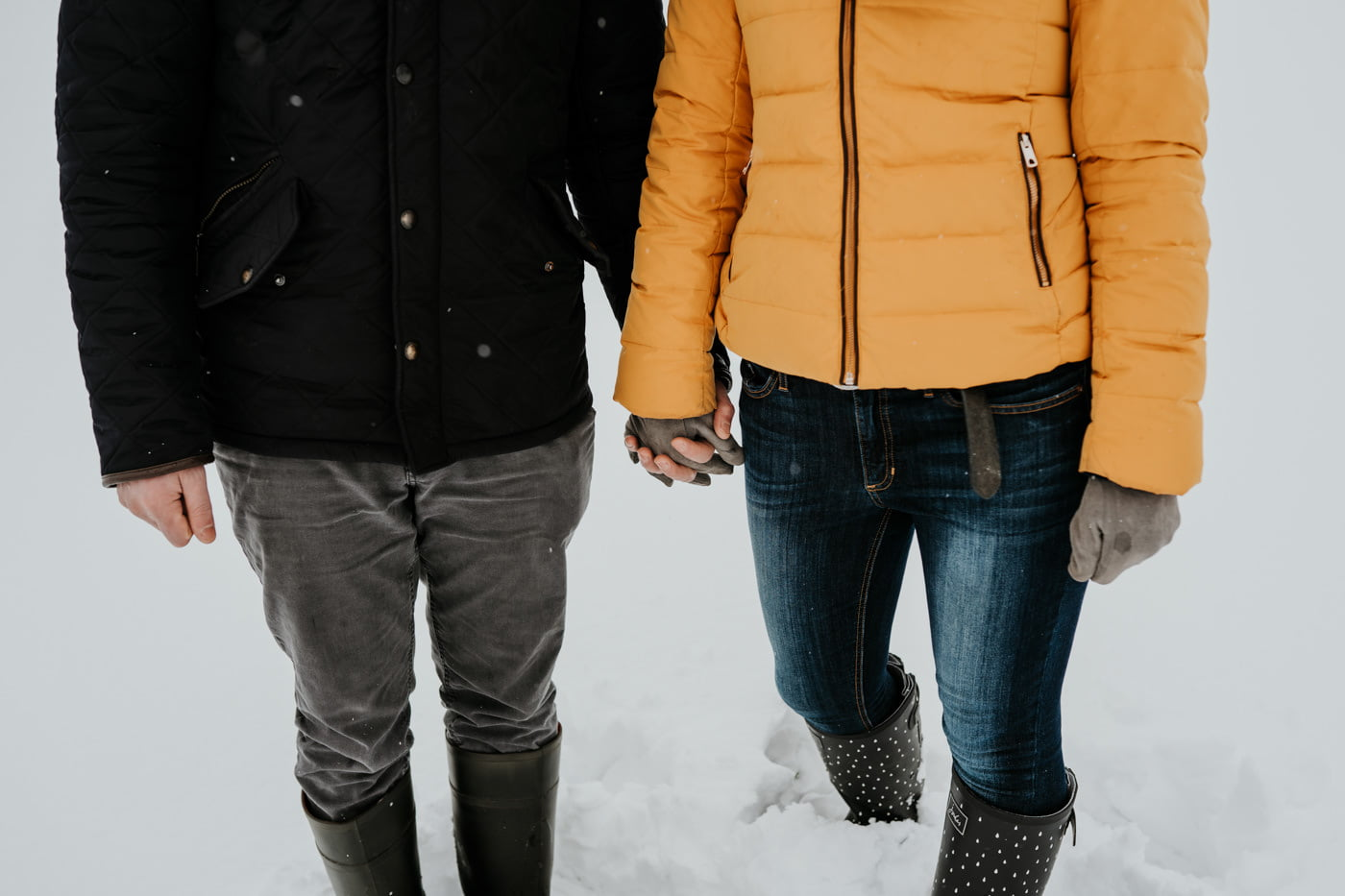 Sophie and Rob, Snow Engagement Shoot 5