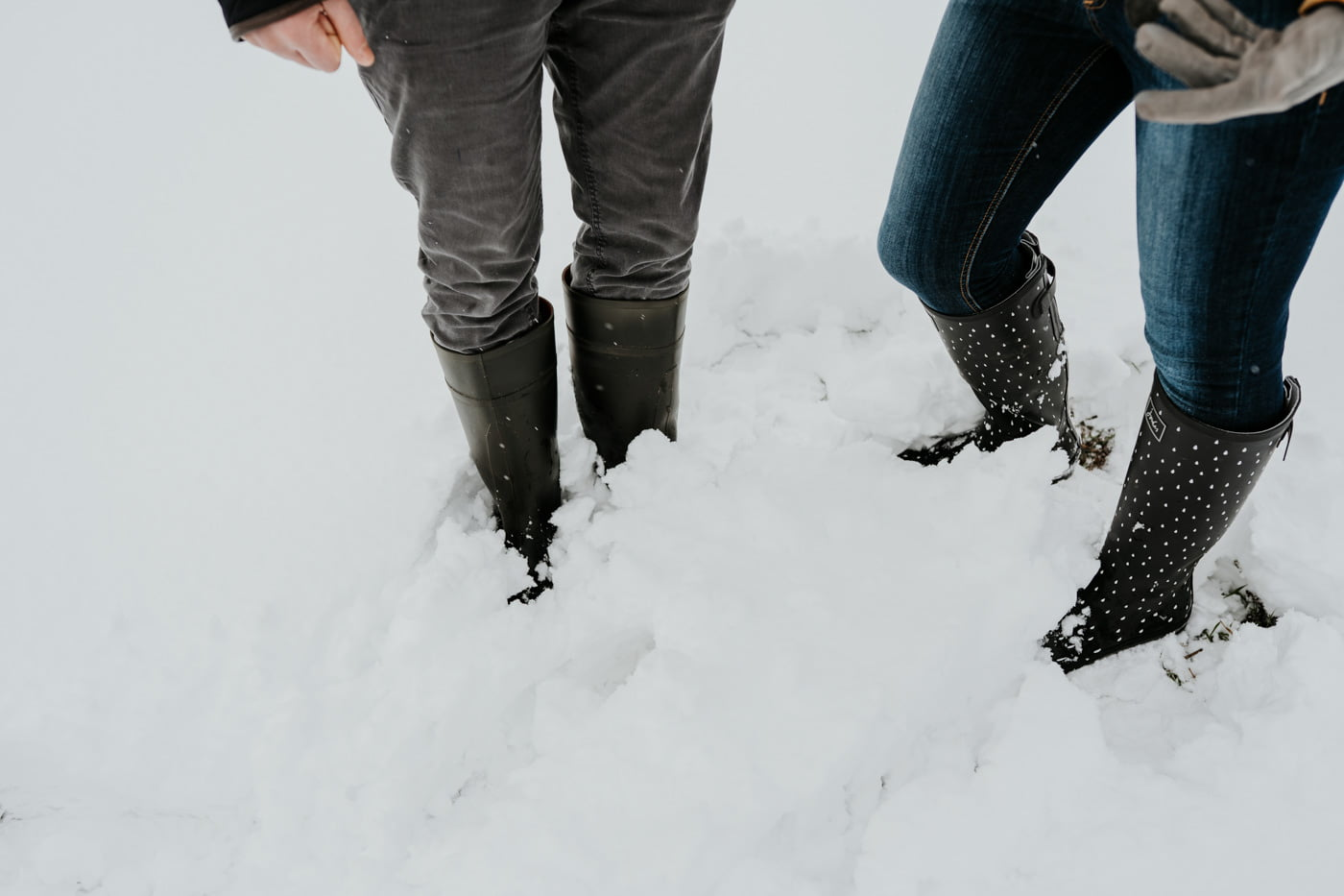 Sophie and Rob, Snow Engagement Shoot 4