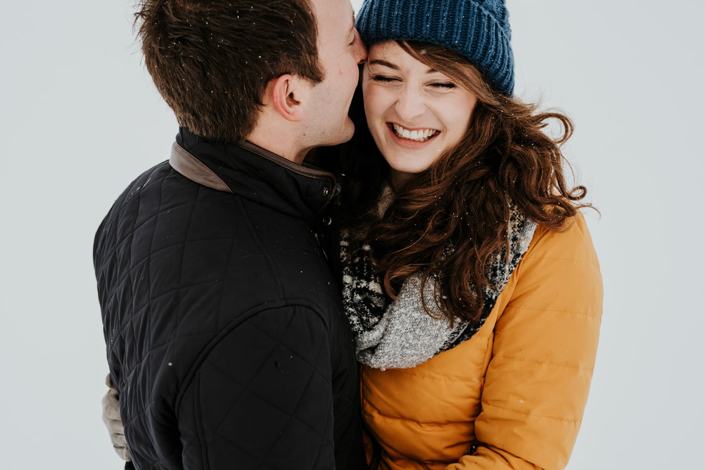 Sophie and Rob, Snow Engagement Shoot 15
