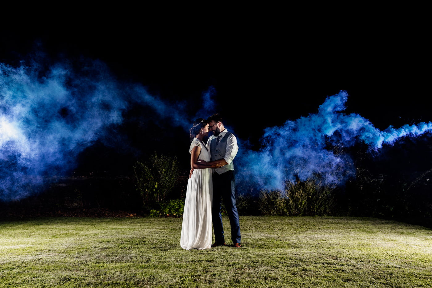 smoke grenade photography at Brympton house