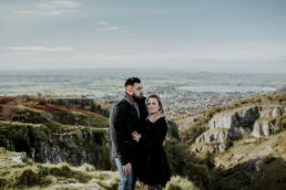 engagement photography on top of cheddar gorge