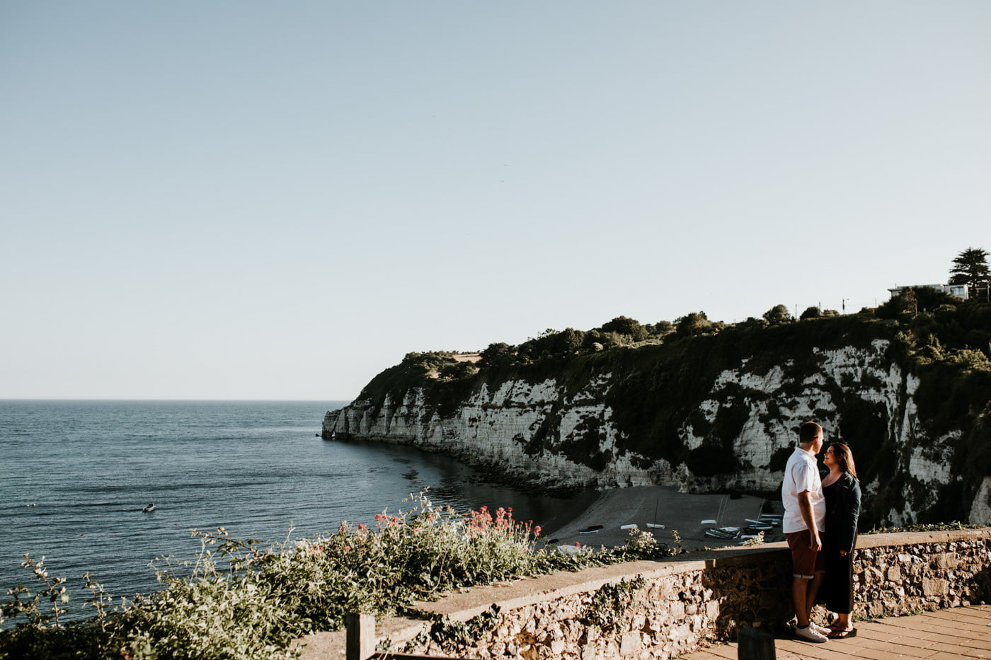 Sophie and George, Beer Beach Engagement Shoot 1