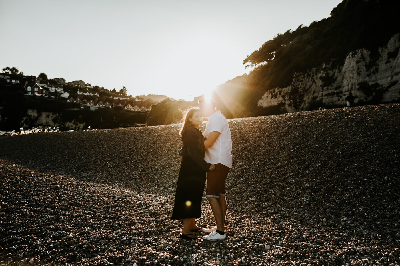 Sophie and George, Beer Beach Engagement Shoot 12