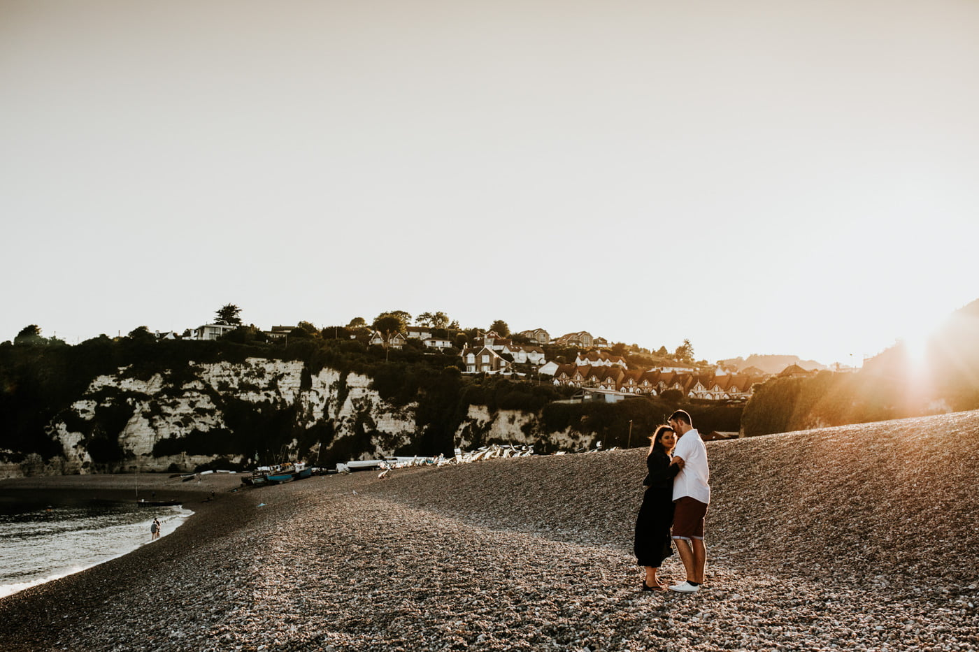 Sophie and George, Beer Beach Engagement Shoot 13