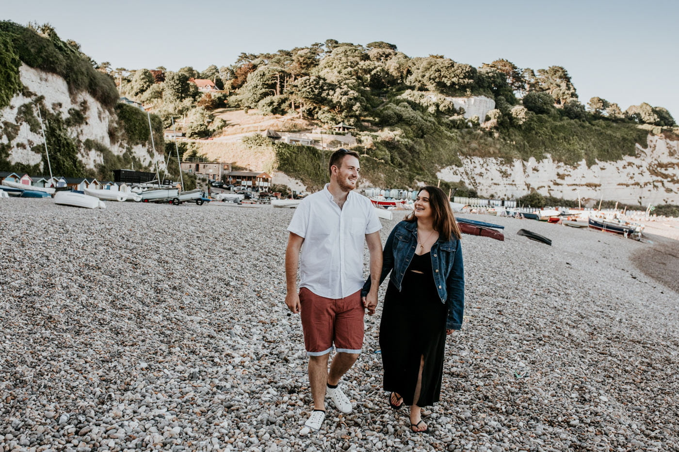 Sophie and George, Beer Beach Engagement Shoot 3