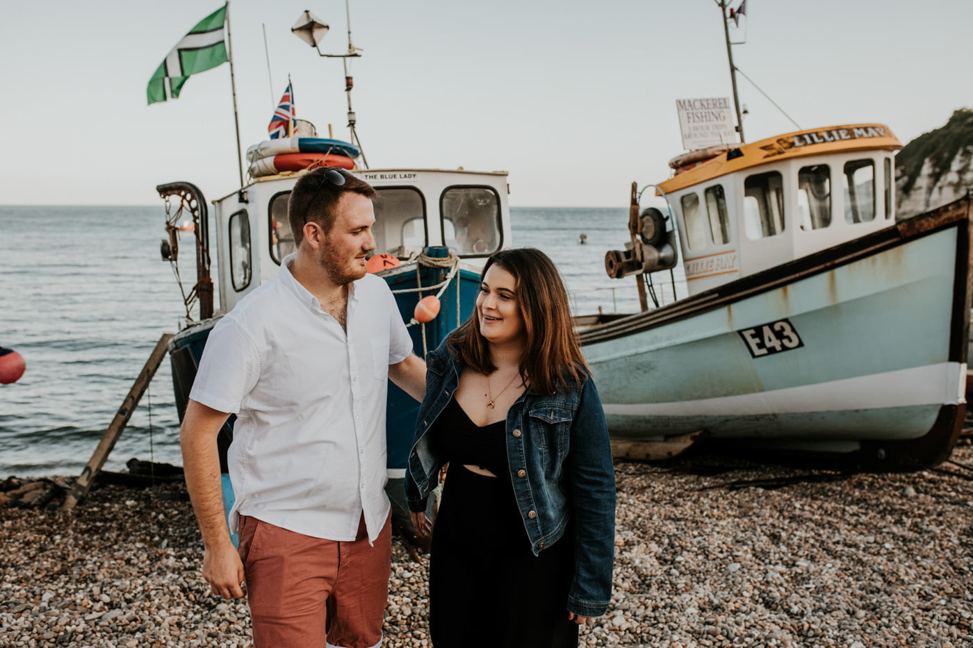 Sophie and George, Beer Beach Engagement Shoot 9