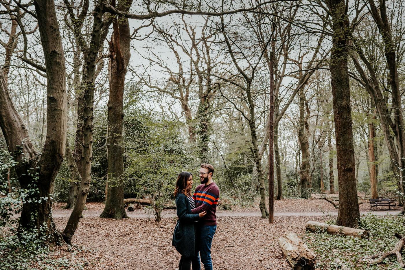 Amber & Dave, Highgate London Engagement Shoot 18