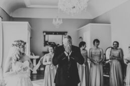 fathers reaction to seeing daughter in wedding dress