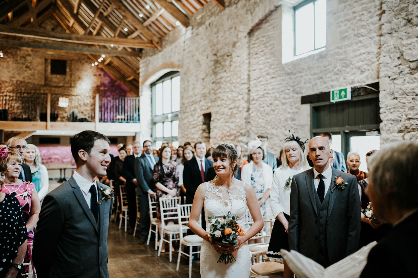 Hannah and Mark, Priston Mill Tythe Barn, Bath 15
