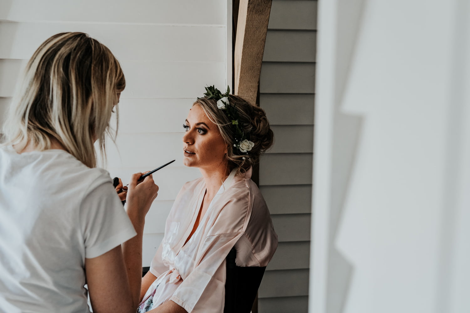 bridal preparations at tunnels beaches