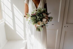 bridal bouquets at Brympton house