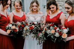 winter wedding flowers by twigs and twine floral design