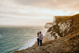 Ashleigh and John, Durdle Door Engagement Shoot 1